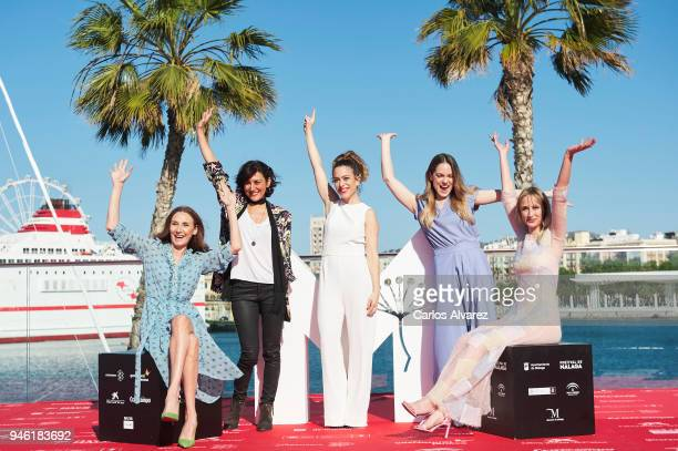Actresses Mona Martinez Cibeles Fernandez director Andrea Jaurrieta and actresses Irene Ruiz and Ingrid Garcia Jonsson attend 'Ana de Dia' photocall...