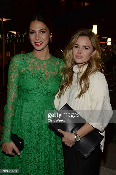 Actresses Moran Atias and Annie Heise attend the premiere for The Orchard's 'A Stand Up Guy' on February 9 2016 in Los Angeles California