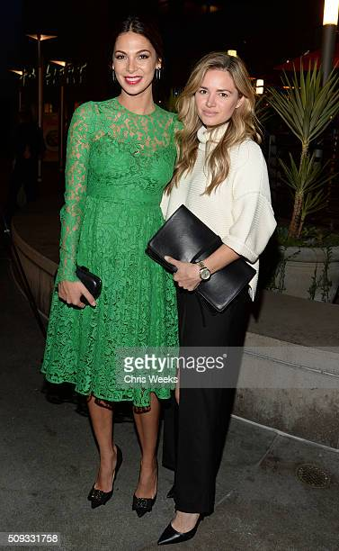 Actresses Moran Atias and Annie Heise attends the premiere for The Orchard's 'A Stand Up Guy' on February 9 2016 in Los Angeles California