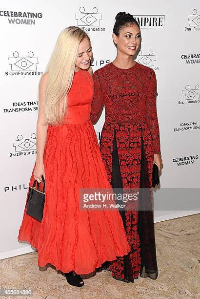 Actresses Morgan Saylor and Morena Baccarin attend the 2014 BrazilFoundation Gala at Lincoln Center on September 18 2014 in New York City
