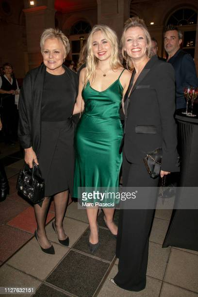 Actresses Muriel Robin Chloe Jouannet and Alexandra Lamy attend the 26th 'Trophees Du Film Francais' Photocall at Palais Brongniart on February 05...