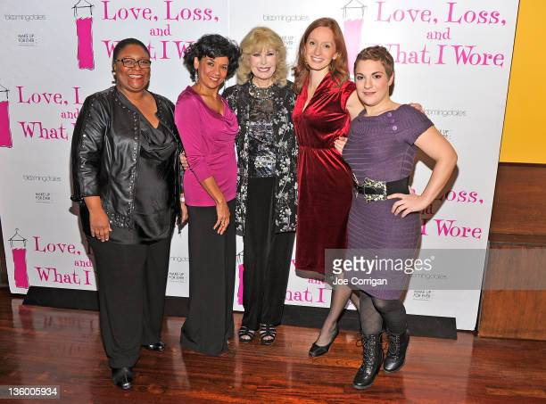 Actresses Myra Lucretia Taylor Sonia Manzano Loretta Swit Emily Dorsch Daisy Eagan attend the Love Loss and What I Wore new cast and 900th...