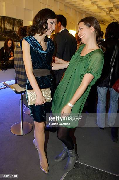 Actresses Nadine Warmuth and Alissa Jung attend the 'Next Generation' reception during day eight of the 60th Berlin International Film Festival at...