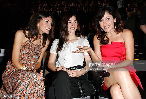 Actresses Nadine Warmuth Aylin Tezel and Carolina Vera Squella attend the 'Michalsky StyleNite' during MercedesBenz Fashion Week Berlin Spring/Summer...