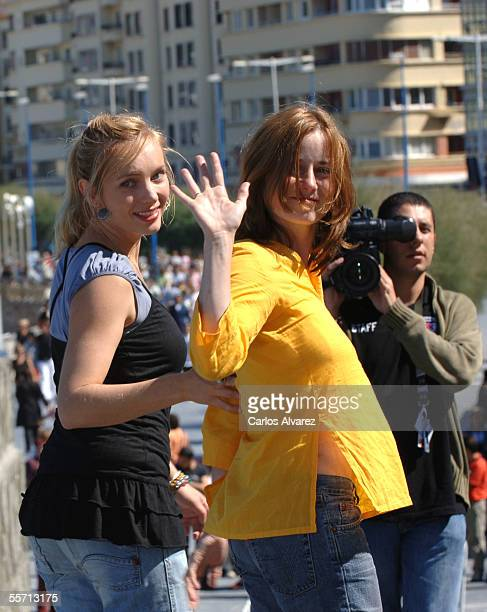 """Actresses Nadja Uhl and Inka Friedrich attend the photocall for """"Summer in Berlin"""" on the fourth day of the 53rd San Sebastian International Film..."""