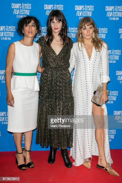 Actresses Naidra Ayadi Judith Chemla and Ana Girardot attends the 7th Champs Elysees Film Festival at Cinema Gaumont Marignan on June 12 2018 in...