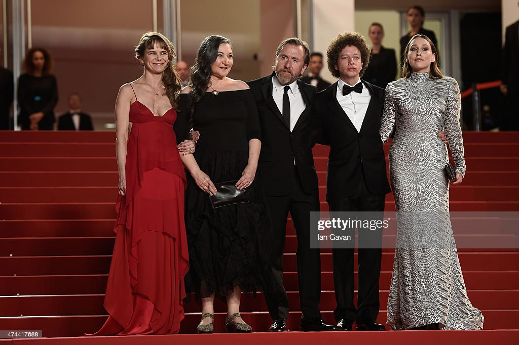 Actresses Nailea Norvind and Robin Bartlett, Actor Tim Roth, Director Michel Franco and Actress Sarah Sutherland attend the 'Chronic' Premiere during the 68th annual Cannes Film Festival on May 22, 2015 in Cannes, France.