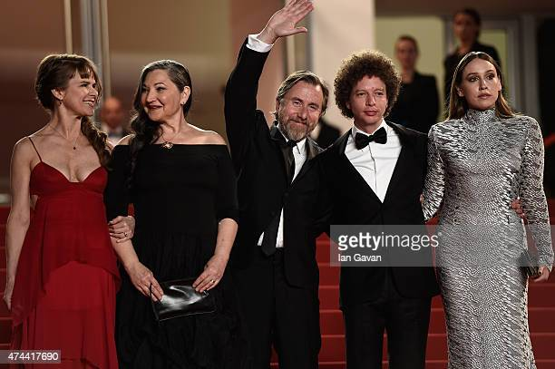 Actresses Nailea Norvind and Robin Bartlett Actor Tim Roth Director Michel Franco and Actress Sarah Sutherland attend the 'Chronic' Premiere during...