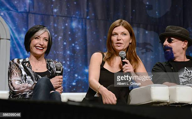Actresses Nana Visitor Nicole de Boer and producer Ira Steven Behr on day 3 of Creation Entertainment's Official Star Trek 50th Anniversary...