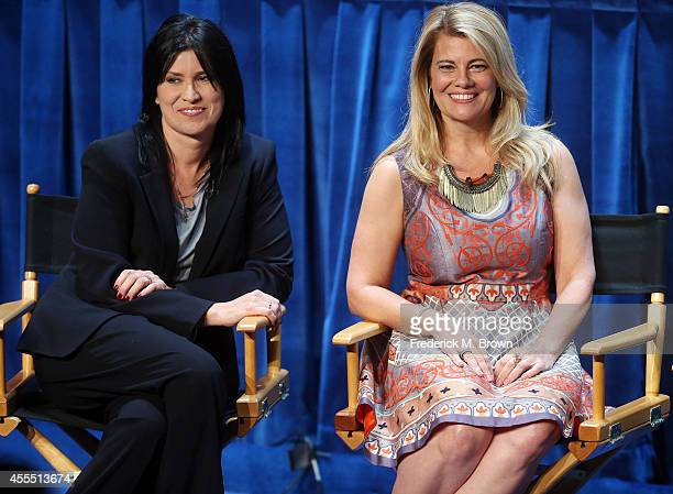 """Actresses Nancy McKeon and Lisa Whelchel speak during The Paley Center for Media's PaleyFest 2014 Fall TV Preview - """"The Facts of Life"""" 35th..."""