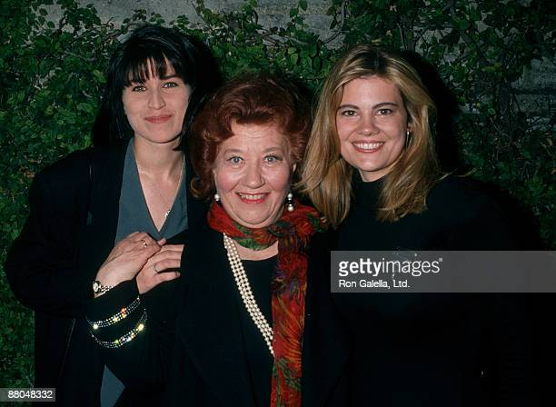 """Actresses Nancy McKeon, Charlotte Raye and Lisa Whechel attending the opening of """"Joy Ride-The True Story of Grandma Moses"""" on May 11, 1994 at the..."""