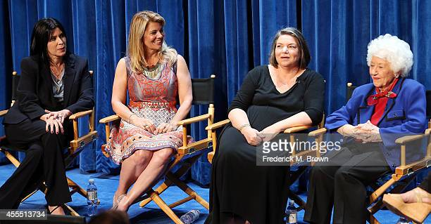 """Actresses Nancy McKeon, Lisa Whelchel, Mindy Cohn, and Charlotte Rae speak during The Paley Center for Media's PaleyFest 2014 Fall TV Preview - """"The..."""