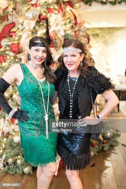 Actresses Nancy O'Brien and Kira Reed Lorsch attend The Thalians Hollywood for Mental Health Holiday Party 2017 at the Bel Air Country Club on...