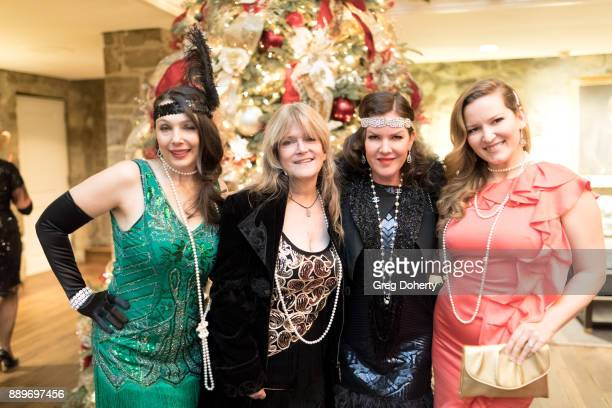 Actresses Nancy O'Brien Susan Olsen Kira Reed Lorsch and Christine Troutman attend The Thalians Hollywood for Mental Health Holiday Party 2017 at the...