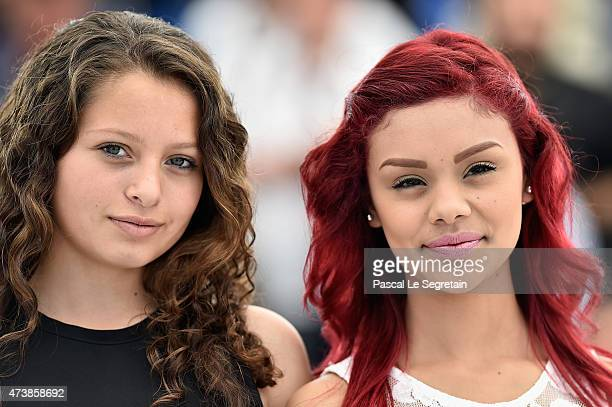 Actresses Nancy Talamantes and Leidi Gutierrez attend the Las Elegidas Photocall during the 68th annual Cannes Film Festival on May 18 2015 in Cannes...