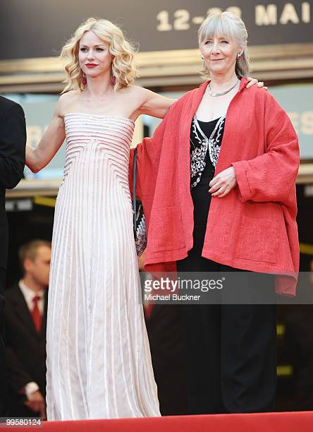Actresses Naomi Watts and Gemma Jones attend the You Will Meet A Tall Dark Stranger Premiere at the Palais des Festivals during the 63rd Annual...