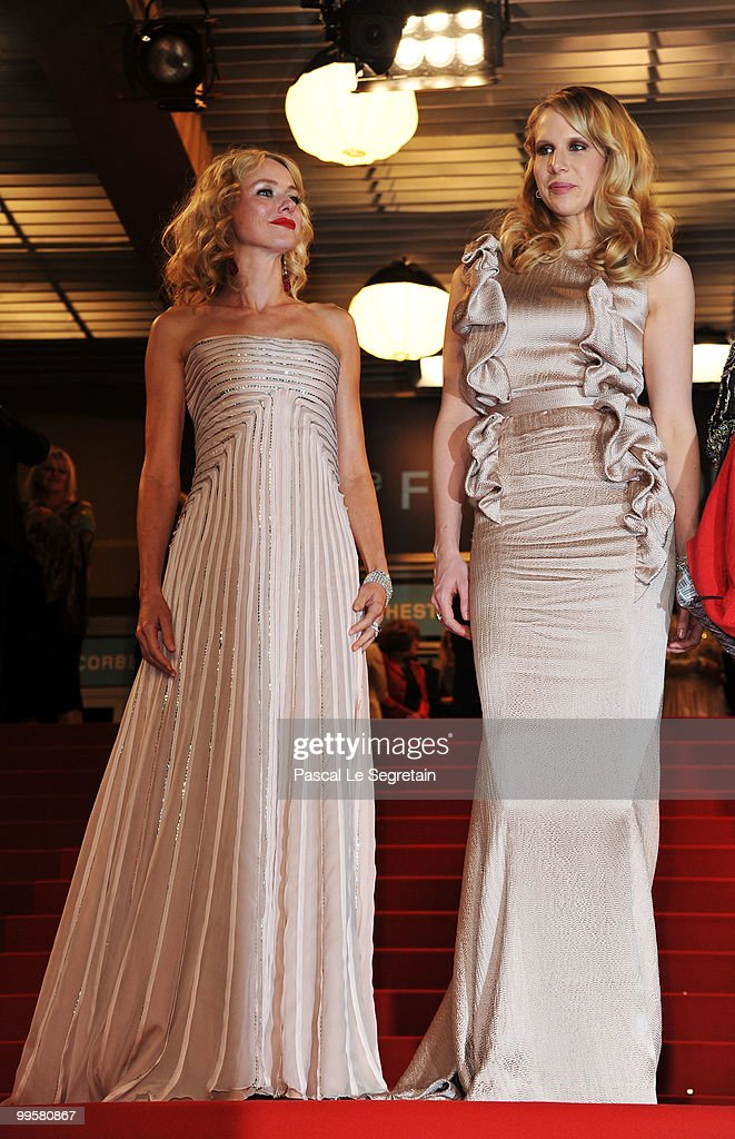 Actresses Naomi Watts and Lucy Punch depart the 'You Will Meet A Tall Dark Stranger' Premiere at the Palais des Festivals during the 63rd Annual Cannes Film Festival on May 15, 2010 in Cannes, France.