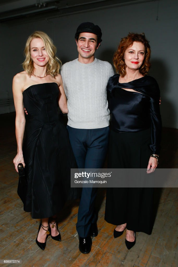 Actresses Naomi Watts and Susan Sarandon joined designer Zac Posen at his Presentation during New York Fashion Week: at 13-17 Laight Street on February 14, 2017 in New York City.
