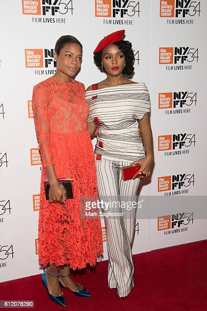 Actresses Naomie Harris and Janelle Monae attend the premiere of Moonlight during the 54th New York Film Festival at Alice Tully Hall Lincoln Center...