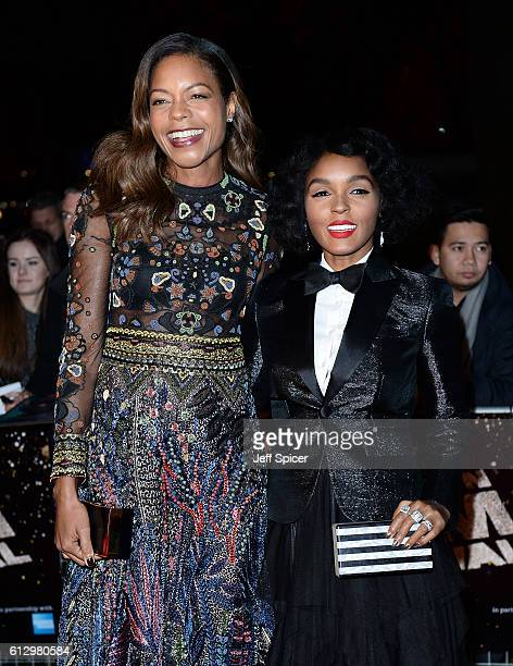 Actresses Naomie Harris and Janelle Monáe attends the 'Moonlight' Official Competition screening during the 60th BFI London Film Festival at...