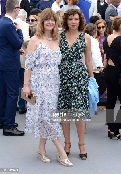Actresses Nastassja Kinski and Valeria Golino attend the 70th Anniversary photocall during the 70th annual Cannes Film Festival at Palais des...