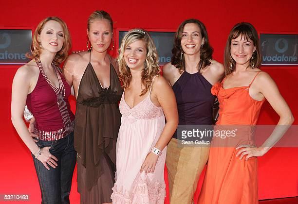 "Actresses Natalie Alison, Marisa Novertne, Susan Sideropoulos, Ulrike Frank and Maike von Bremen from the German television series ""Gute Zeiten,..."