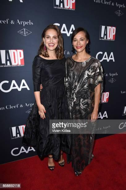 Actresses Natalie Portman and Rashida Jones attend the 2017 Los Angeles Dance Project Gala on October 7 2017 in Los Angeles California