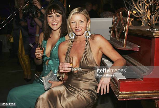 Actresses Natalie Saleeba and Tammy Macintosh attend the 10th Birthday Party of Marie Claire Magazine at the Technology Park on August 09 2005 in...