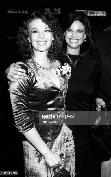 Actresses Natalie Wood and Lana Wood attend the premiere of Dark Eyes on March 23 1981 at the Warner Beverly Theater in Beverly Hills California