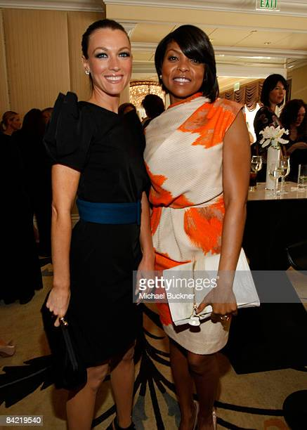 Actresses Natalie Zea and Taraji P Henson attend the 8th Annual Awards Season Diamond Fashion Show Preview hosted by the Diamond Information Center...