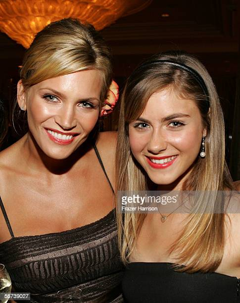 Actresses Natasha Henstridge and Caitlin Wachs attend the inaugural ball and premiere of ABC's CommanderinChief after party held at The Regent...