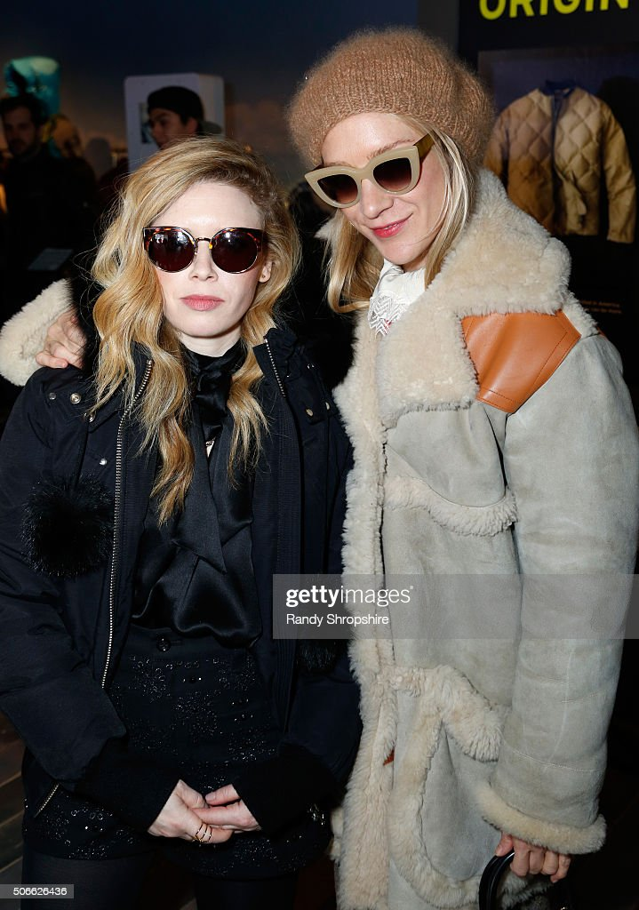 Actresses Natasha Lyonne (L) and Chloe Sevigny attend the Eddie Bauer Adventure House during the 2016 Sundance Film Festival at Village at The Lift on January 24, 2016 in Park City, Utah.