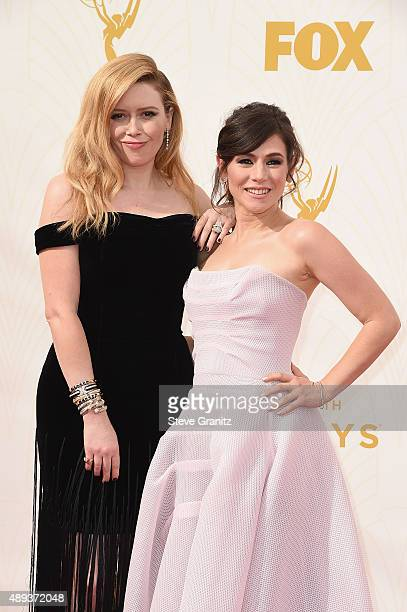 Actresses Natasha Lyonne and Yael Stone attend the 67th Annual Primetime Emmy Awards at Microsoft Theater on September 20 2015 in Los Angeles...