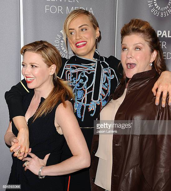 Actresses Natasha Lyonne Taylor Schilling and Kate Mulgrew attend an evening with Orange Is The New Black at The Paley Center for Media on May 26...