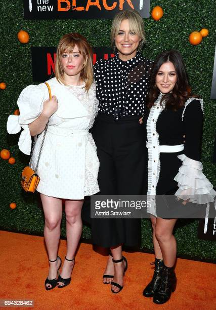 Actresses Natasha Lyonne Taylor Schilling and Yael Stone attend 'Orange Is The New Black' season 5 celebration at Catch on June 9 2017 in New York...