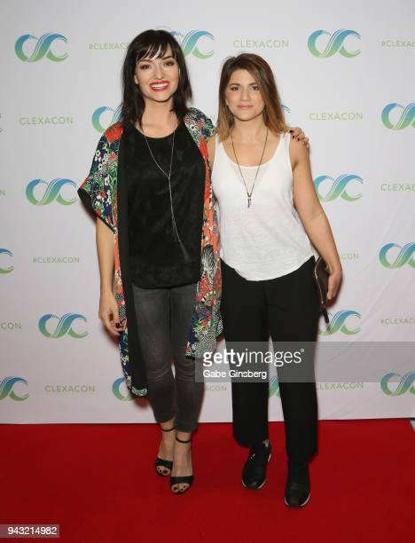 Actresses Natasha Negovanlis and Elise Bauman attend the Cocktails for Change fundraiser hosted by ClexaCon to benefit Cyndi Lauper's True Colors...