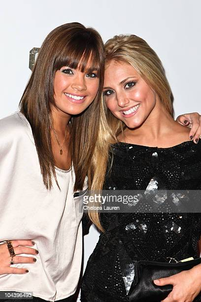 Actresses Nicole Anderson and Cassie Scerbo attend the Runway Magazine Fall Issue Party at The Colony on September 23 2010 in Hollywood California