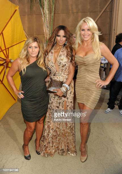 Actresses Nicole Eggert Traci Bingham and Gena Lee Nolin arrive at the Comedy Central Roast Of David Hasselhoff held at Sony Pictures Studios on...