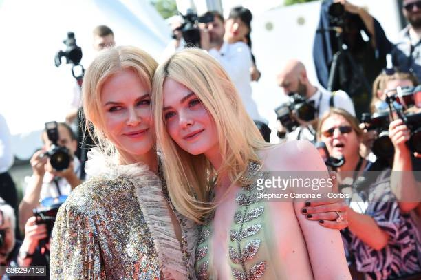 Actresses Nicole Kidman and Elle Fanning attend the 'How To Talk To Girls At Parties' screening during the 70th annual Cannes Film Festival at on May...