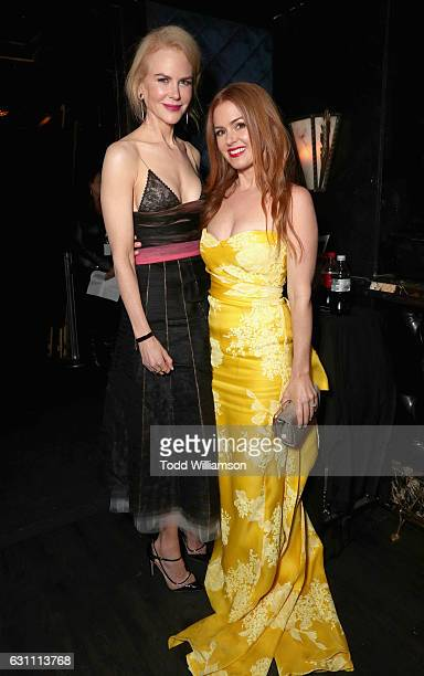 Actresses Nicole Kidman and Isla Fisher attend The 6th AACTA International Awards on January 6 2017 in Los Angeles California