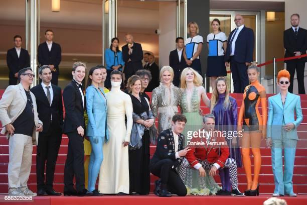 Actresses Nicole Kidman Elle Fanning actors Alex Sharp AJ Lewis director John Cameron Mitchell costume designer Sandy Powell Novel's author Neil...