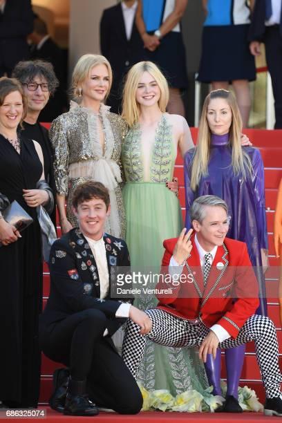 Actresses Nicole Kidman Elle Fanning actors Alex Sharp director John Cameron Mitchell costume designer Sandy Powell Novel's author Neil Gaiman and...
