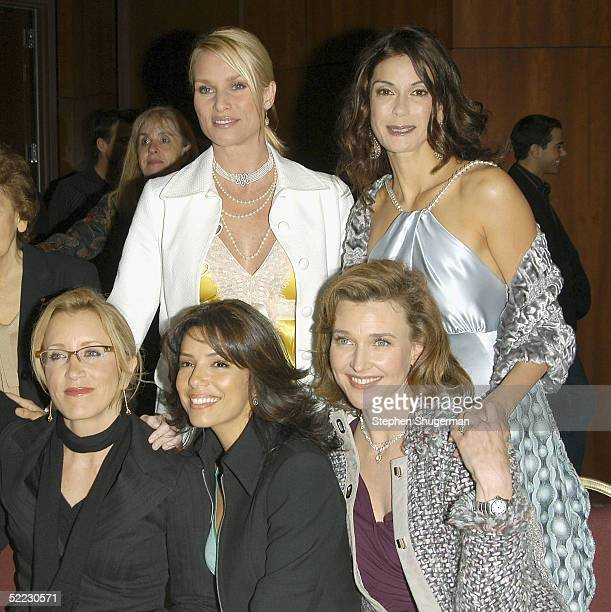 Actresses Nicollette Sheridan and Teri Hatcher Actresses Felicity Huffman Eva Longoria and Brenda Strong pose at An Evening With Desperate Housewives...