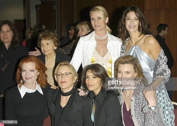 Actresses Nicollette Sheridan and Teri Hatcher Actresses Marcia Cross Felicity Huffman Eva Longoria and Brenda Strong pose at An Evening With...