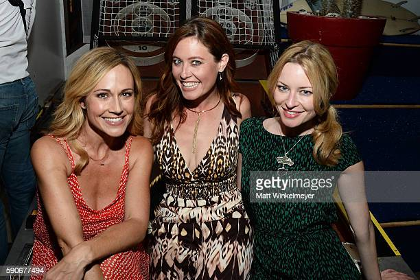 Actresses Nikki DeLoach Melissa Archer and Jessica Morris attend MJ Dougherty's 'Life Lessons from a Total Failure' book launch party at The Sandbox...