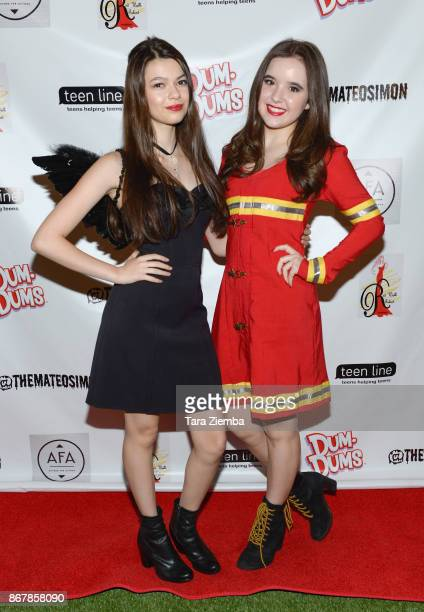 Actresses Nikki Hahn and Aubrey K Miller attend Mateo Simon's Halloween Charity Event on October 28 2017 in Burbank California