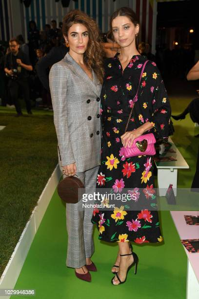 Actresses Nikki Reed and Angela Sarafyan attend the Escada Front Row during New York Fashion Week on September 9 2018 in New York City