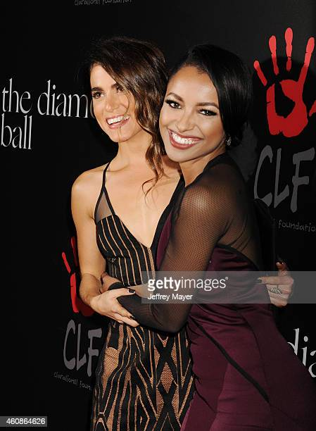 Actresses Nikki Reed and Kat Graham attend Rihanna's First Annual Diamond Ball at The Vineyard on December 11 2014 in Beverly Hills California
