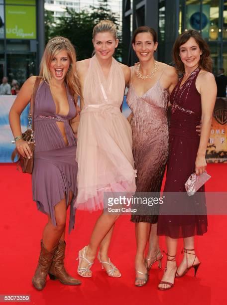 """Actresses Nina Bott, Ulrike Frank, Maike von Bremen and Susan Sideropoulos from the German television series """"Gute Zeiten, Schlechte Zeiten"""" arrive..."""