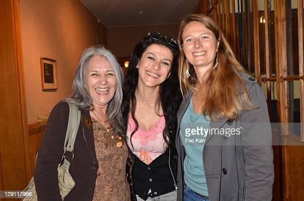 Actresses Niseema Theillaud Jovanka Sopalivic and navigator Florence Migraine Bourgnon attend the 'Journees du Livre Et Du Vin' 2011 Lunch at Bouvet...